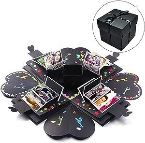 tbpersicwT Photo Album Box, Explosion Box DIY Handmade Photo Album Romantic Boyfriend Girlfriend Love Gift