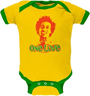 Bob Marley - One Love Yellow Baby One Piece