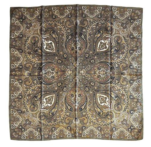 CG - TALENTO FIORENTINO, Bufanda de seda con diseño clásico Rocoò, 100% pura seda de satén, disponible en dos colores, fabricada en Italia, calidad 100% italiana. verde ácido Talla única