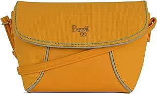 Baggit Autumn-Winter 2020 Faux Leather Women's Satchel Bag (Yellow) (Matco)