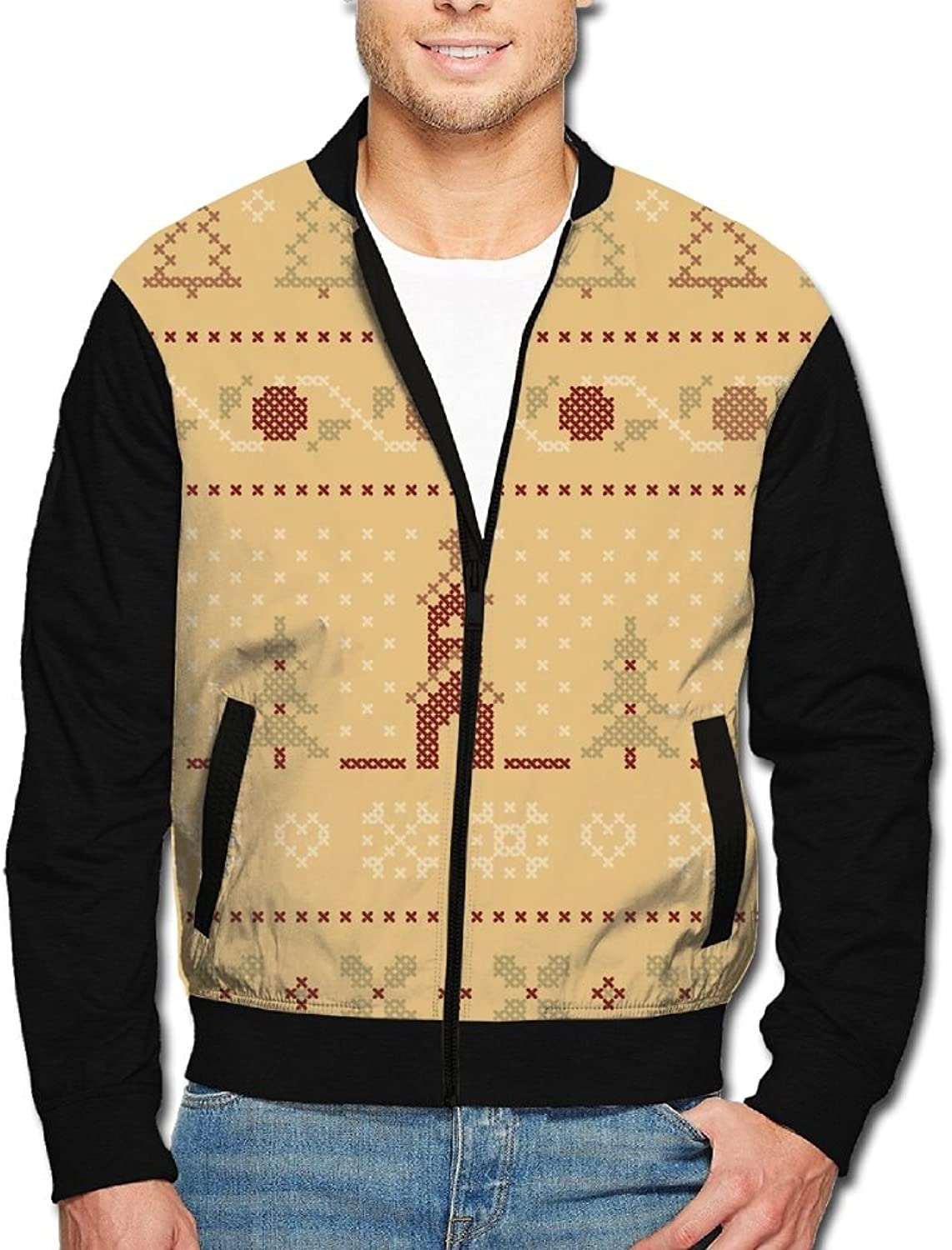 04892bd1d3 Christmas Ugly Xmas Zip Up Jacket Hoodie With Zipper For For For Men 181a88