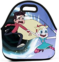 Neoprene Waterproof Portable Lunch Bag - Reusable Picnic Box Soft Insulated Food Tote With Zipper Outdoor Travel Bento Bags - Star Vs. The Forces Of Evil Star Butterfly And Marco Diaz Running