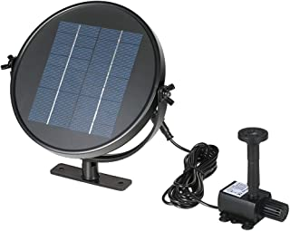 Goolsky Decdeal 9V 2W Solar Panel Solar Powered Fountain Submersible Brushless Water Pump Kit for Bird Bath Pond Pull 190L...