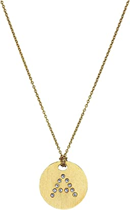 Tiny Treasures 18K Yellow Gold Initial A Pendant Necklace