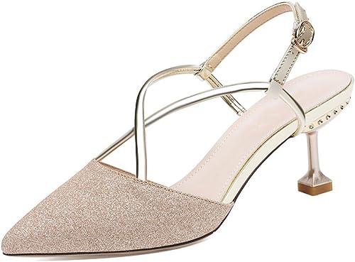 DKFJKI Frauen Pumps High Heels Spitze Sandalen Stilettos Mode Kleider