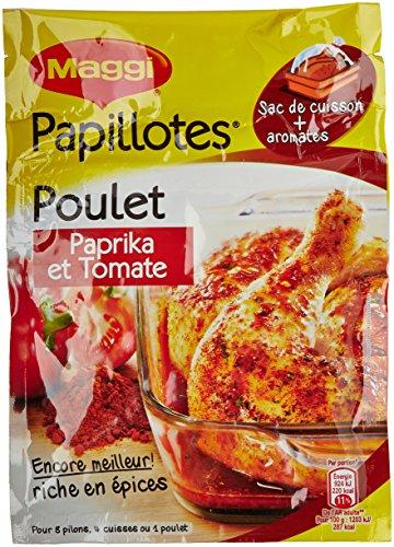 Maggi Papillotes Poulet Paprika et Tomate 28g - Lot de...