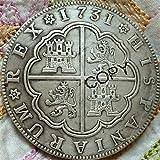 1731 España 8 Reales Copiar Monedas Colección de Regalos de Recuerdo