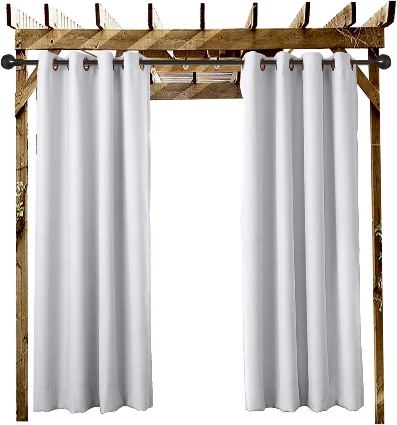 Extra Wide Outdoor Curtain White 150