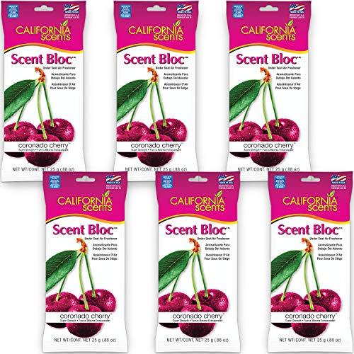 California Scents Power Bloc Car Air Freshener, Coronado Cherry Fresh & Bold Fragrance, 0.88 Oz (Pack of 6) - Packaging May Vary, 5.28 Ounce