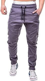 Men Pant Sport Pure Color Bandage Casual Loose Sweatpants Drawstring