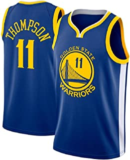 runvian Camiseta de Baloncesto para Hombre, NBA NBA Klay Thompson #11 Warriors Golden State