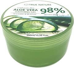 20 Packs True Nature Soothing and Moisture Aloe Vera 98% Soothing Gel Made in Korea (20)