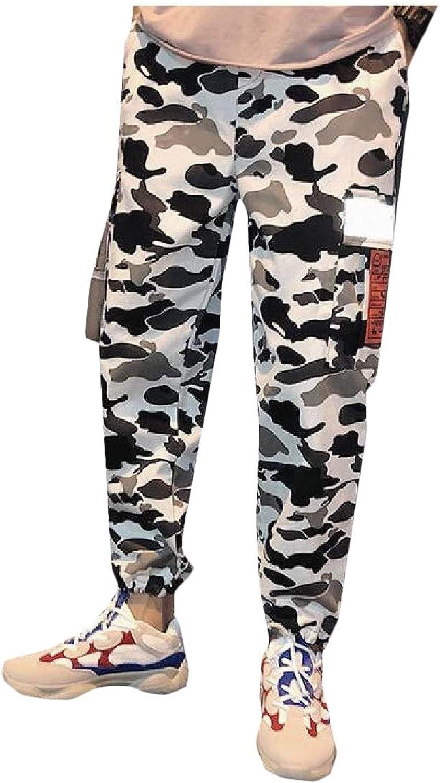 9394c08d08b2c0 Sweatwater-CA Men Fitness Jogging Elastic Elastic Elastic Waist Camouflage Trousers  Sport Pants bba5da