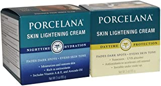 Porcelana Skin Lightening Night Cream & Fade Dark Spots Treatment Skin Lightening Day Cream 3oz