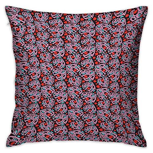 I Love You Square Funda de almohada personalizada Composición de las letras en forma de corazón Declaración de amor Feelings Fundas de cojín multicolor Fundas de almohada para sofá Dormitorio Coche