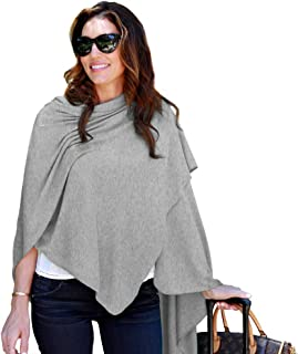 HappyLuxe Wayfarer Travel Wrap and Shawl, Cozy Soft Blanket, Built in Neck Warmer