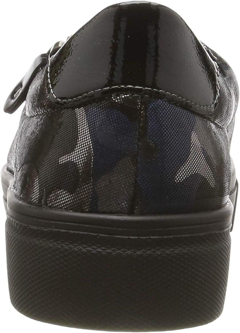 Remonte R3101, Zapatillas para Mujer Multicolor Blau Camouflage Schwarz 92