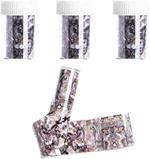 Comidox 3 Sheets(in Bottle)Marble Shell Starry Sky Design Nail Art Sticker DIY Foils Transfer Decals Manicure Decoration