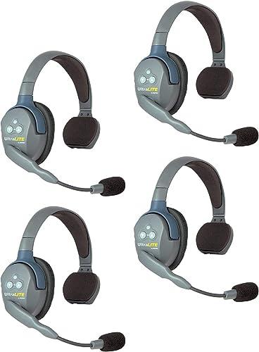 lowest Eartec UL4S UltraLITE Full Duplex Wireless Headset online Communication for high quality 4 Users - 4 Single Ear Headsets outlet sale