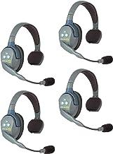 $735 » Eartec UL4S UltraLITE Full Duplex Wireless Headset Communication for 4 Users - 4 Single Ear Headsets