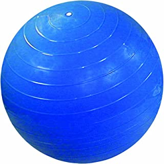 CanDo Non-Slip Super Thick Inflatable Exercise Ball, Blue, 33.5
