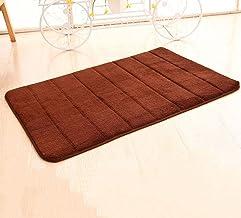 2-piece Coral Fleece Memory Absorbent Pad Non-Slip Bath Mat Bathroom Carpet Absorbent Bath Mat Machine Washable Durable Ca...