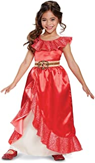 Disney Elena of Avalor Adventure Dress Deluxe Costume Toddler 3-4T Red