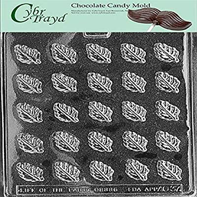 Cybrtrayd Life of the Party AO037 Spearmint Leaves Chocolate Candy Mold in Sealed Protective Poly Bag Imprinted with Copyrighted Cybrtrayd Molding Instructions