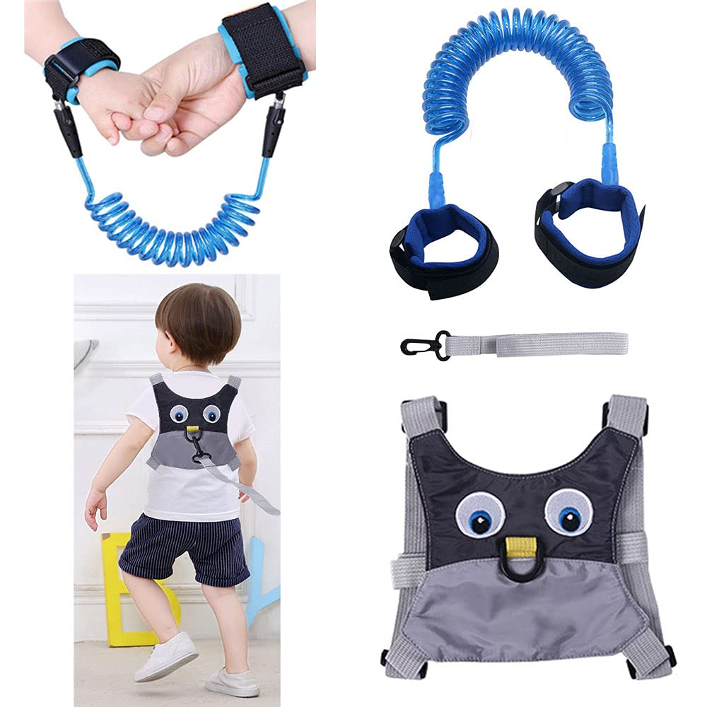 Toddler Leash -Anti Lost Wrist Link for Toddlers -Toddler Harness,3 in 1 Toddler Harness Leashes,Toddler Walking Wristband Assistant Strap for Parent Kids Outdoor Activity,Suitable for Girls and Boys