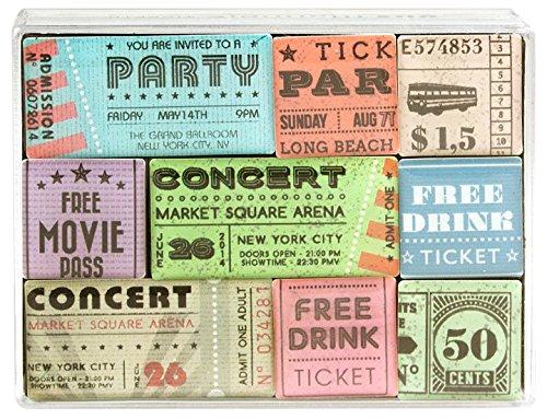 Trendform Box Tickets Büro Magnete, Sortiert, 7x 9.4x 1.9cm