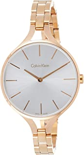 Calvin Klein K7E23646 Womens Quartz Watch, Analog Display and Stainless Steel Strap - Silver
