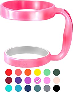 F-32 Handle - 19 COLORS - Available For 30oz or 20oz BEAST, YETI, RTIC (PREVIOUS DESIGN), OZARK TRAIL Rambler & More Tumbler Mug - BPA FREE (30OZ, HOT PINK (NEON))