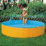 Sport-Thieme Planschbecken Moby Dick für Kinder ab 3 Jahren   Faltbarer Kinderpool mit Ø von 180 cm   Schadstofffreie PVC-Folie   Höhe 39,5 cm   Gewicht: 9 kg