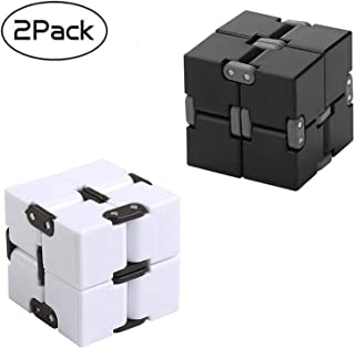 2PCS Fidget Magic Blocks Infinity Cube Puzzle Flip Cube Ball Anti Anxiety Relieves Stress Relief Time Killer Hand Wrist Twister Toys for ADD, ADHD, Anxiety,Autism for Adults Kids(2PCS)