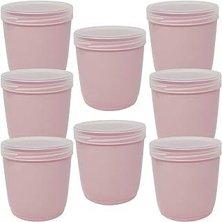 Codil Lot de 8 boîtes de rangement, récipients de cuisine, récipients réutilisables, boîtes en plastique, bol, pour congel...