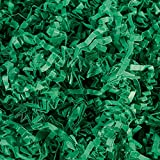 Crinkle Cut Paper Shred Filler (1/2 LB) for Gift Wrapping & Basket Filling - Green | MagicWater Supply