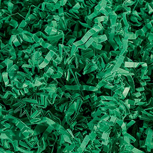 Crinkle Cut Paper Shred Filler (2 LB) for Gift Wrapping & Basket Filling - Green | MagicWater Supply