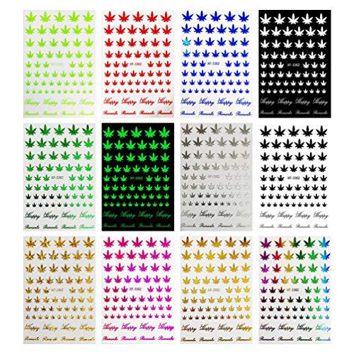 Lurrose Feuille D'érable Pâte à Ongles Manucure Nail Art Autocollant 3D Autocollant à Ongles Décalcomanies Décalcomanies à Ongles pour Fille Dame Femme Femme Nail Art Bricolage