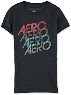 Aeropostale Womens Neon Stacked Graphic T-Shirt