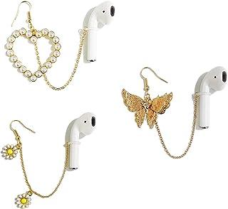 Pendientes antipérdida AirPods, pendientes antipérdida para los oídos, pendientes antipérdida con soporte para auriculares inalámbrico, compatible con Airpods Pro 1/2, (incluye 3 estilos de 6 piezas)