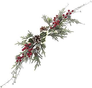 Centro de Mesa de Navidad Verde con Acebo y piñas de 75 cm - LOLAhome