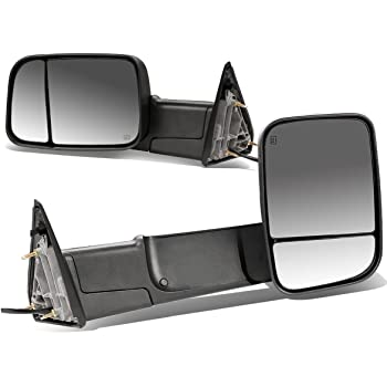 DNA Motoring TWM-013-T111-BK Pair of Towing Side Mirrors