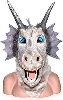 WNGCAR AU Halloween Front Purple Faucet Moving Mouth Animal mask for Halloween, Party, Carnival etc. Adult (Color : Gray)