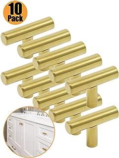 Probrico - Tiradores para puerta de cocina (latón dorado,