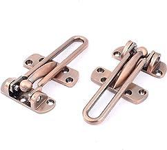 Gatehouse Metalen Beveiliging Deur Klink Guard Swing Bar Koper Tone 2 stks
