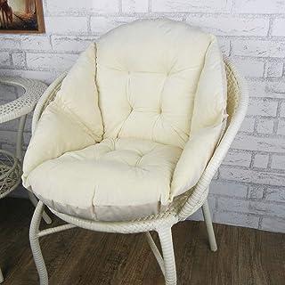 YFDD Asiento cómodo cojín Amortiguador del sillón de Refuerzo Flexible cojín del sofá cojín de Asiento Trasera de la Ayuda Jardín Salón Gama de sillas, de Color Beige, 48 * 51cm aijia