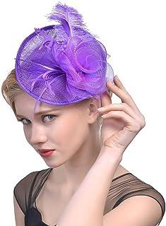 VPbao Women Wedding Party Bride Headdress Feather Flower Mesh Headband