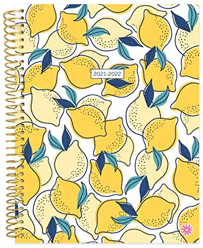 bloom daily planners 2021-2022 85 x 11 Academic Year Day Planner July 2021 - July 2022 - WeeklyMonthly Dated Agenda Calendar Organizer with Tabs - Lemons
