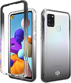 Remson Colorful Gradient Dual Layer Shockproof Back Case Cover for Samsung Galaxy A21S Protective Case Back Case Cover (Bl...