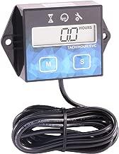 Digital Tachometer Maintenance Hour Meter Tach for Motorcycle ATV UTV Boat Generator Mower Chainsaw